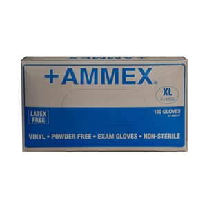Exam Gloves-Vinyl, powder free (x large)