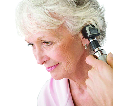 Otoscope lady