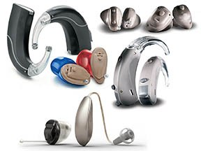 collage of hearing aids